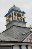 Eastbourne pier, England. A turret on top of the Victorian pier at Eastbourne in East Sussex, England Stock Photography