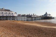 Eastbourne pier, England. Eastbourne pier at low tide, England, United Kingdom Royalty Free Stock Image