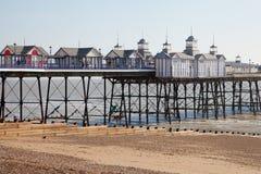 Eastbourne pier, England. Eastbourne pier at low tide, England, United Kingdom Stock Photos