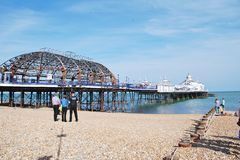 Eastbourne pier fire, July 2014 Royalty Free Stock Photography