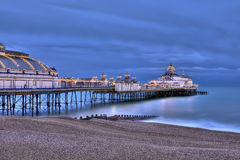 Eastbourne pier at night Royalty Free Stock Images