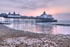 Eastbourne pier at sunrise. UK royalty free stock photos
