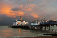 Eastbourne pier at sunset Royalty Free Stock Photography