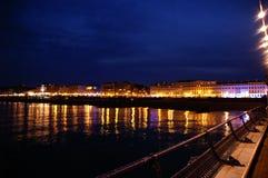 Eastbourne por noche Fotos de archivo libres de regalías
