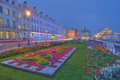 Eastbourne promenade. Eastbourne main promenade by night stock image