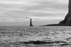 19/09/2018 Eastbourne, Reino Unido Faro principal con playas Fotos de archivo libres de regalías