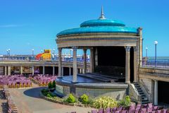 Free Eastbourne`s Band Stand, A Beautiful Art Deco Structure On The Seafront Royalty Free Stock Photo - 140210145