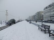 Eastbourne Snow Royalty Free Stock Photos