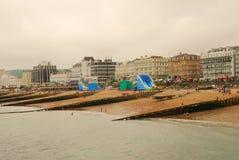 Eastbourne-Strand, England Lizenzfreie Stockbilder