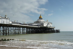 EASTBOURNE, SUSSEX/UK - FEBRUARY 19 : View of the Pier in Eastbo Stock Photos