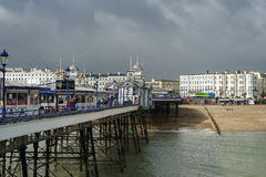 EASTBOURNE, SUSSEX/UK - FEBRUARY 19 : View of the Pier in Eastbo Royalty Free Stock Photos