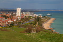 Eastbourne view. A nice view of Eastbourne from up high stock image