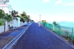 Eastcliff promenad, Shanklin, ö av wighten arkivfoton