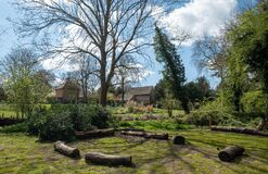 Eastcote House Gardens next to the River Pinn on the Celadine Way, in the Borough of Hillingdon, London, UK.