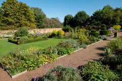 Eastcote House historic walled garden in the Borough of Hillingdon, London, UK. The garden is looked after volunteers.