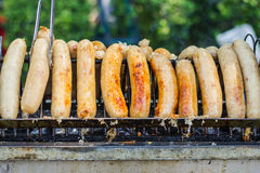 Easten thai sausage Thai name is Sai Krok Isan Royalty Free Stock Images