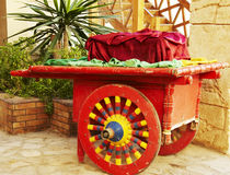Easten trolley. Beautiful red trolley on egyptian street Royalty Free Stock Photo