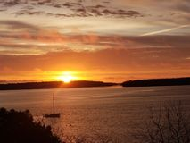 Eastend Portland Maine di alba fotografie stock libere da diritti