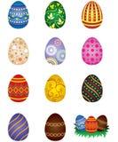 easter ägg vektor illustrationer