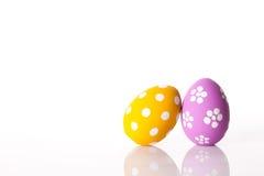 easter ägg isolerade white Arkivfoto