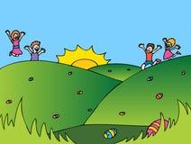easter äggjakt stock illustrationer