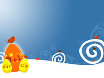 Easter. A background illustration for easter time with eggs and birds Royalty Free Stock Image