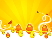 Easter. A background illustration for easter time with eggs and birds Royalty Free Stock Photography