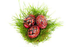 Easter. Some easter eggs isolated on white background stock photo