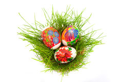 Easter. Some easter eggs isolated on white background Royalty Free Stock Images