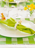 Easter. The served table for Easter royalty free stock photo