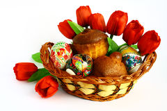 Easter. Eggs and cakes for the feast of Royalty Free Stock Photography