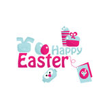 Easter. Happy easter design, vector illustration Stock Photography