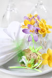Easter. Detail with  eggs for place setting Stock Photo