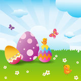 Easter. Warm, happy environment for easter holiday royalty free illustration
