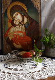 Easter. Image of easter composition still life.This icon is my drawing product Stock Image