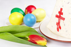 Easter. The traditional Easter served table Stock Photography