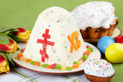Easter. The traditional Easter cakes on table Stock Photography