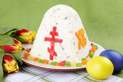 Easter. The traditional Easter cake on table Royalty Free Stock Photography