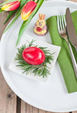 Easter. The served table for Easter Stock Image