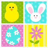 Easter. A set of four color panels with Easter style illustrations stock illustration