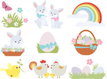 Easter. Set contains symbols of Easter Stock Photo