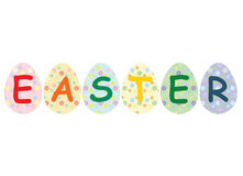 Easter. Painted eggs over white Royalty Free Stock Photo