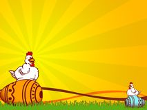 Easter. Illustration for easter holidays with chickens and eggs vector illustration