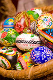 Easter. Polish hand painted easter eggs. Shallow depth of field Stock Images