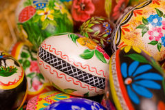 Easter. Polish hand painted easter eggs. Shallow depth of field Stock Image