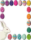 Easter. Eggs and bunny Stock Illustration
