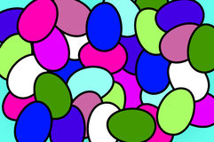 Easter background. Easter abstract colorful eggs background stock illustration