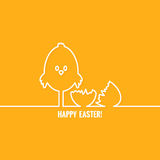 Easter abstract line vector background Royalty Free Stock Images