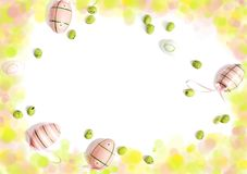 Easter ackground with copy space. Easter holiday concept stock image