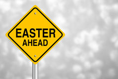 Easter Ahead Road Sign Royalty Free Stock Photos